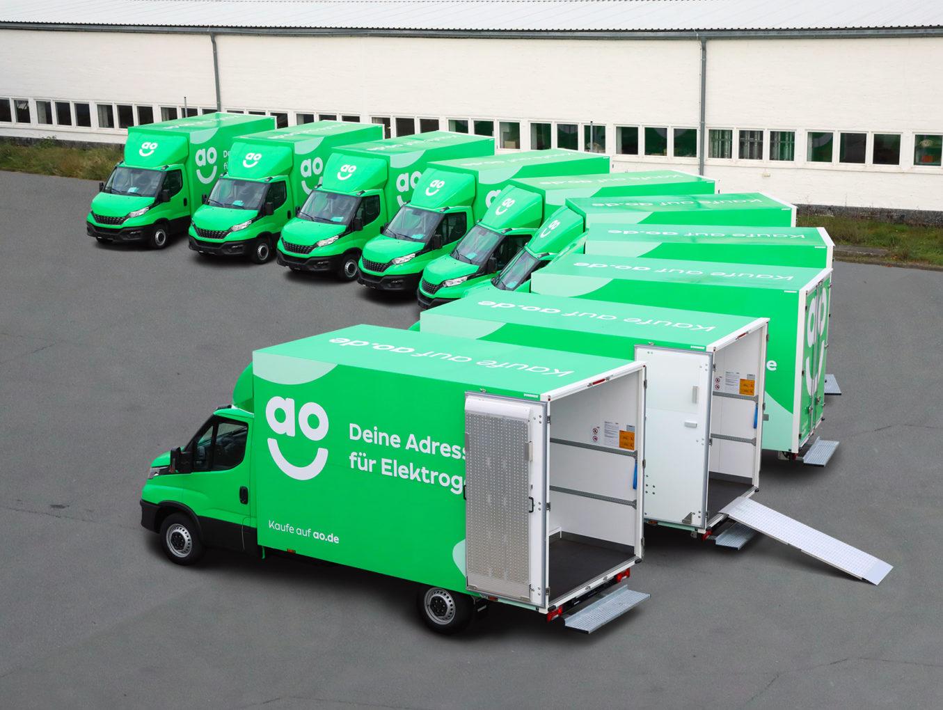 AO - Weiße Ware mit grüner Vollverklebung