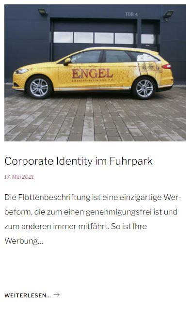 Corporate Identity im Fuhrpark